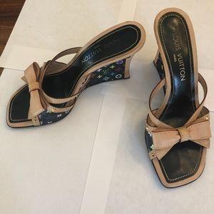 Louis Vuitton LV pattern bow sandal